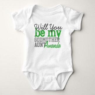 Body Para Bebé Usted será mi madrina. (Con su tía Name)