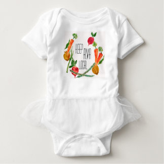 Body Para Bebé Va el bebé fresco del diseño de la granja local de
