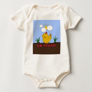 Body Para Bebé Va el vegano - polluelo lindo