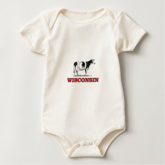Body Para Bebé vaca roja de Wisconsin
