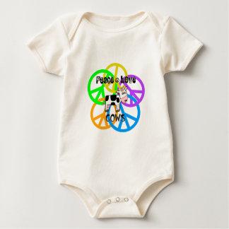 Body Para Bebé Vacas del amor de la paz
