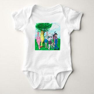 Body Para Bebé Vacas lecheras que llevan la ropa de calle