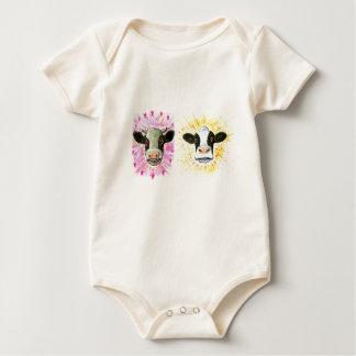 Body Para Bebé Vacas locas