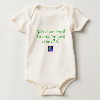 Body Para Bebé ¡Vegano llevado natural! Estoy ahorrando el alrea