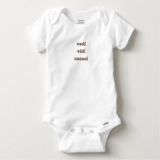 Body Para Bebé veni, vidi, cacavi