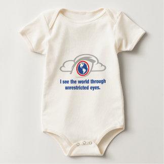Body Para Bebé Veo el mundo a través de ojos sin restricción