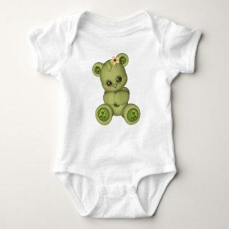 Body Para Bebé Verde amarillo de peluche del oso cuatro del