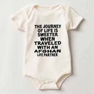 Body Para Bebé Viajado con un socio afgano de la vida