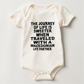 Body Para Bebé Viajado con un socio macedónico de la vida