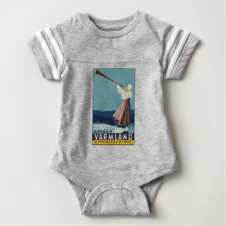 Body Para Bebé Viaje Suecia del vintage