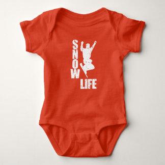 Body Para Bebé VIDA #3 de la NIEVE (blanca)