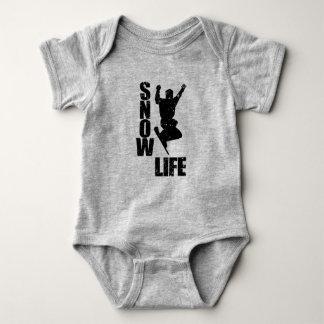 Body Para Bebé VIDA #3 (negro) de la NIEVE