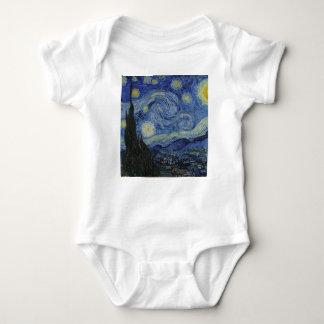 Body Para Bebé Vincent van Gogh - noche estrellada. Pintura del