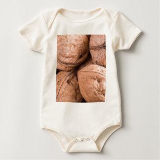 Body Para Bebé Vista macra de un grupo de nueces