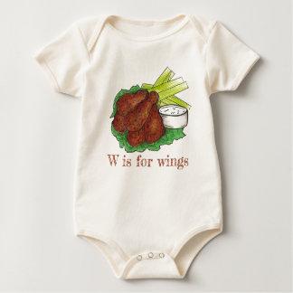 Body Para Bebé W está para el alfabeto del ala de pollo del