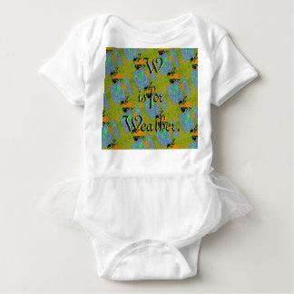Body Para Bebé W está para el mono del tutú del tiempo