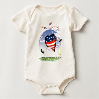 Body Para Bebé Wisconsin ruidoso y orgulloso