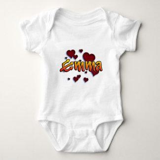 Body Para Bebé with first nombre Emma trident e