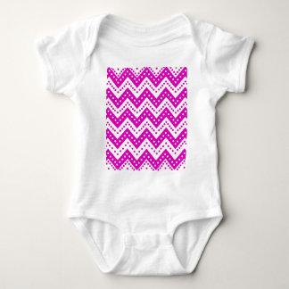 Body Para Bebé Zigzags púrpuras lindos de Polkadot