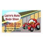 Body Shop auto Plantilla De Tarjeta Personal