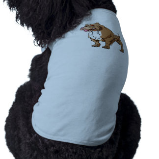 bodybuilder. fuerte del pitbull camiseta sin mangas para perro