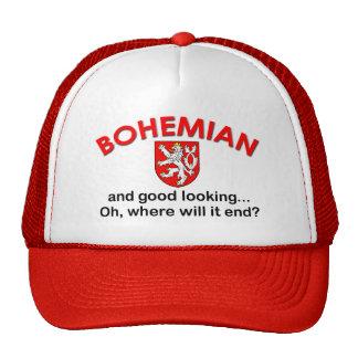 Bohemio apuesto gorros bordados