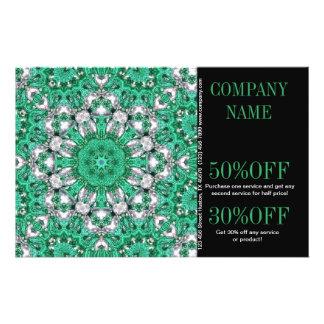 bohemio del modelo del verde esmeralda del vintage folleto 14 x 21,6 cm