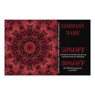 bohemio floral rojo del boutique de la moda del tarjetas informativas