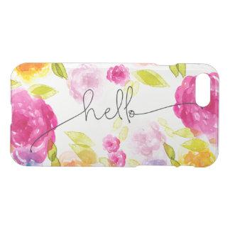 Boho-Moda floral rosada romántica de los flores Funda Para iPhone 7