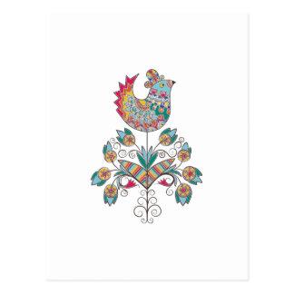 Boho-moda, polluelo étnico, popular en la flor postal