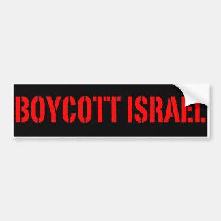 Boicoteo Israel - pegatina para el parachoques Pegatina De Parachoque