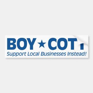 Boicoteo (negocios locales de la ayuda en lugar de pegatina para coche