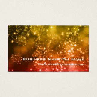 Bokeh 13 (música o DJ) tarjetas de visita