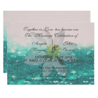 Bokeh elegante, purpurinoso, invitación del boda