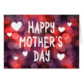 bokeh feliz del día de madre tarjeta de felicitación