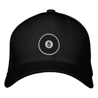 Bola 8 gorra de beisbol bordada