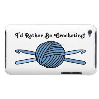 Bola azul de los ganchos del hilado y de ganchillo iPod touch Case-Mate protector