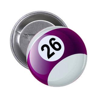 Bola de billar del número 26 pin