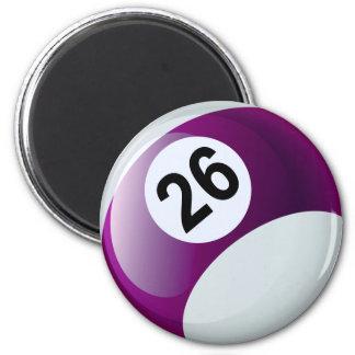 Bola de billar del número 26 imán para frigorifico