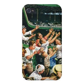 Bola de cogida del home run iPhone 4 fundas