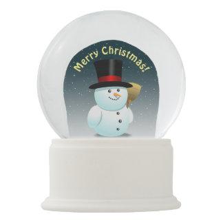Bola De Cristal Con Nieve 2 muñecos de nieve lindos con las narices de la