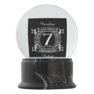 Bola De Cristal Con Nieve 7mo cobre de las lanas del aniversario de boda