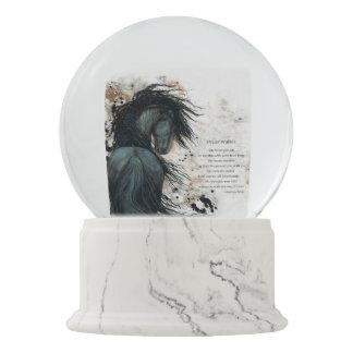 Bola De Cristal Con Nieve Caballo SnowGlobe de DreamWalker con el poema por
