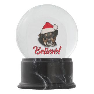 Bola De Cristal Con Nieve ¡Crea! en el perro casero divertido de Aussie del