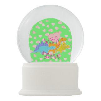 Bola De Cristal Con Nieve Dinosaurios lindos
