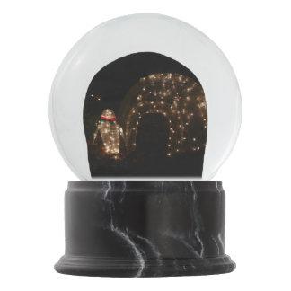 Bola De Cristal Con Nieve Exhibición de la luz del día de fiesta de Pengiun