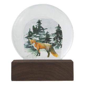 Bola De Cristal Con Nieve Fox en el bosque Snowglobe