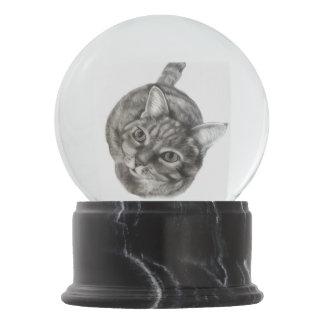 Bola De Cristal Con Nieve Gato de Tabby por el villancico Zeock