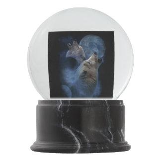 Bola De Cristal Con Nieve Montaña de la luna del lobo de la fantasía