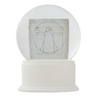 Bola De Cristal Con Nieve Muñeco de nieve de Vitruvian